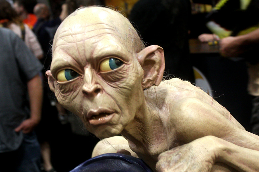 A Gollum statue on the exhibit floor at the 2012 Comic-Con in San Diego.