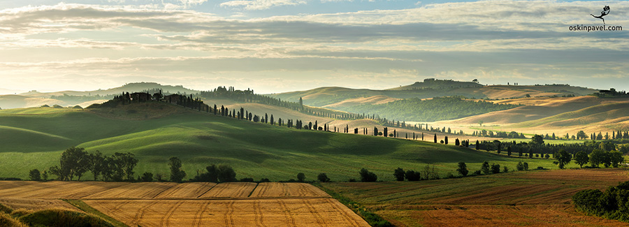 Morning photo-session in Tuscany