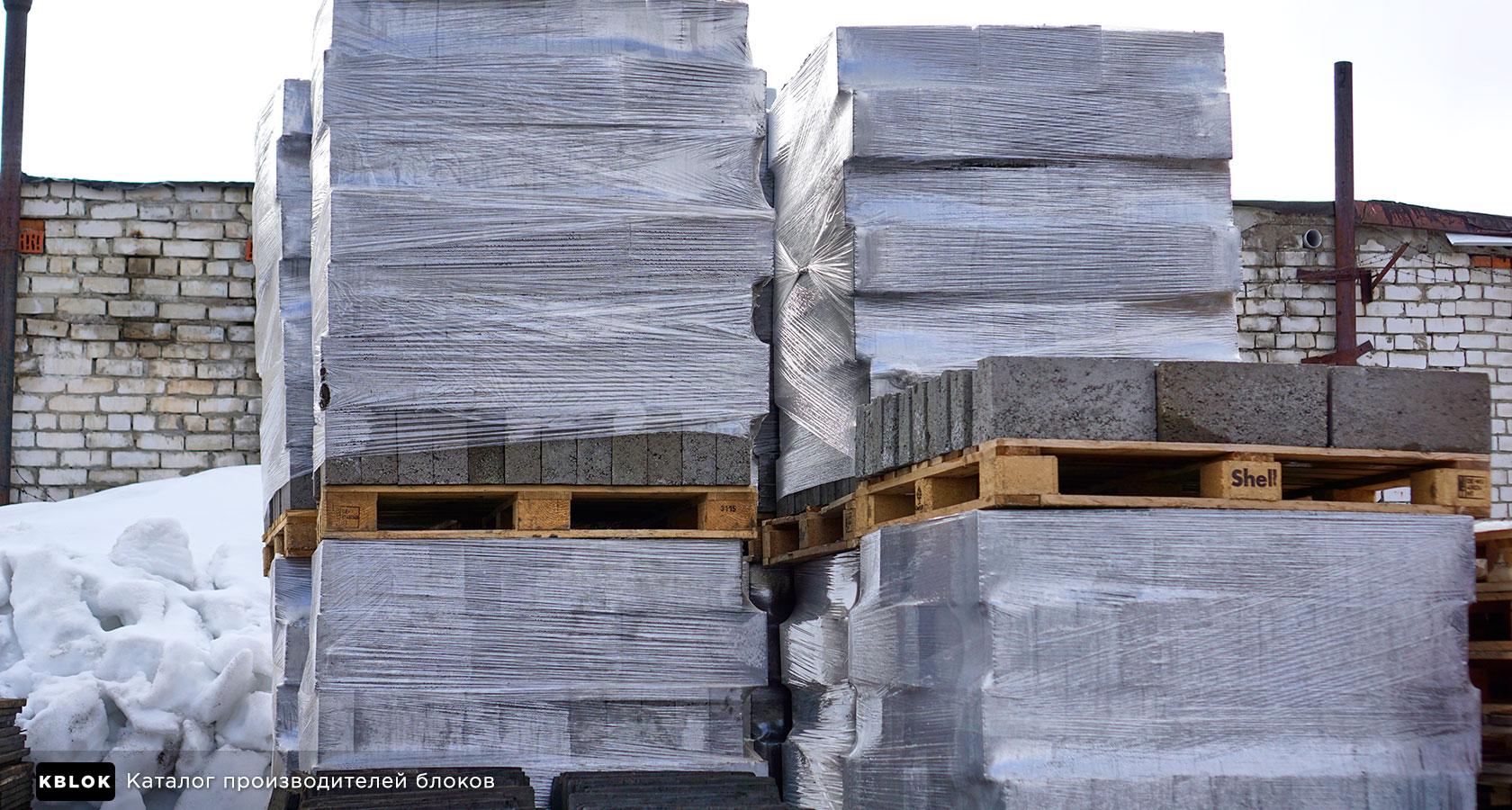поддоны с керамзитными блоками
