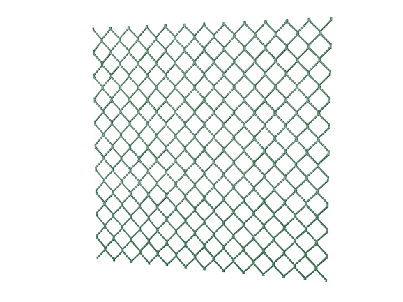 Сетка-рабица с полимерным покрытием