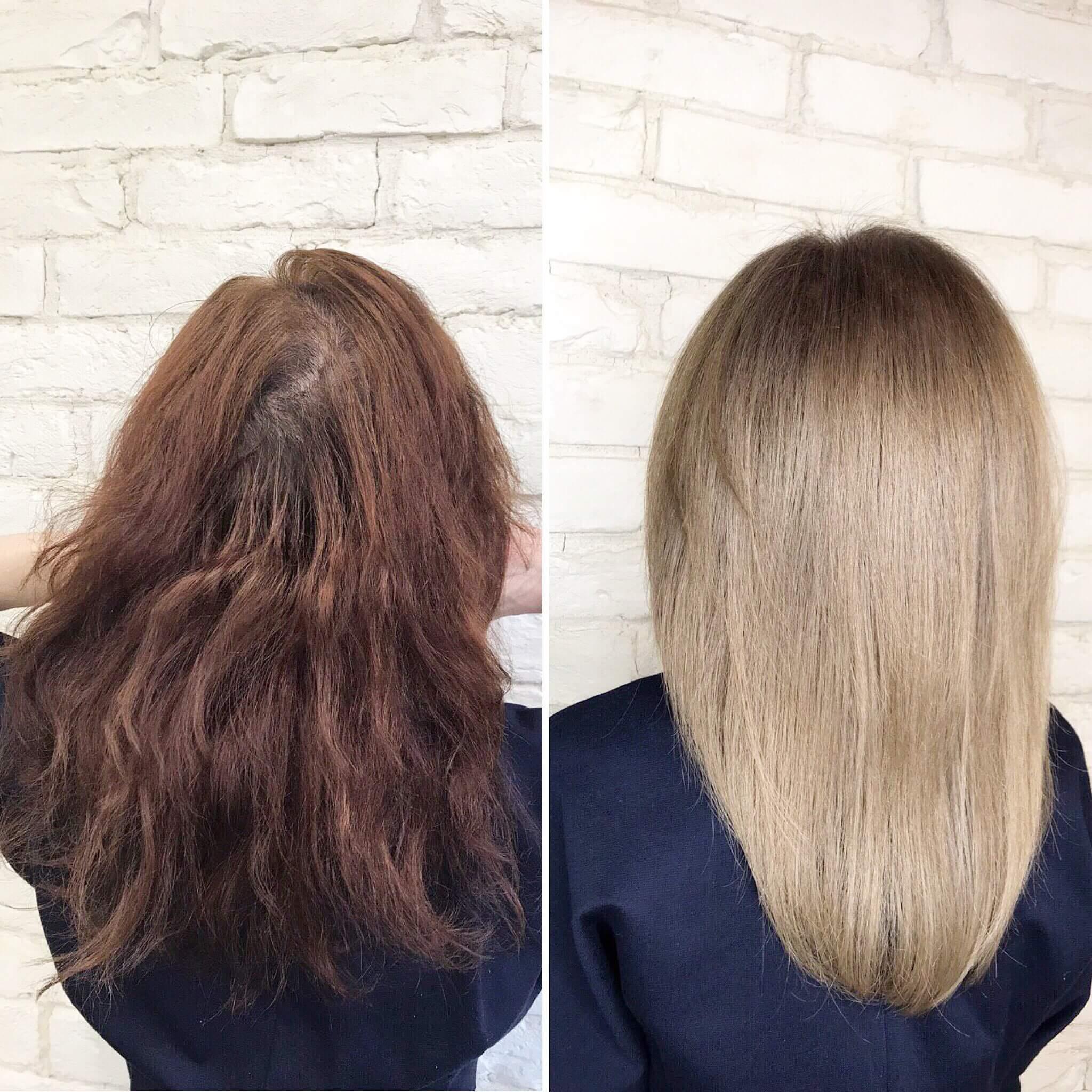 Обесцвечивание волос отзывы фото до и после косу