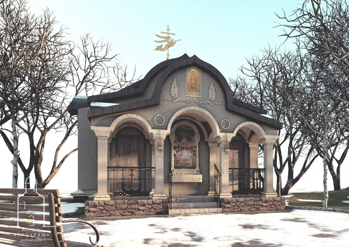 orthodox church, sacred architecture, orthodox church project,chapel with a font