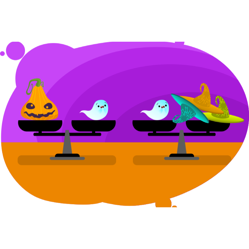 задача на кратное сравнение на тему Хэллоуина
