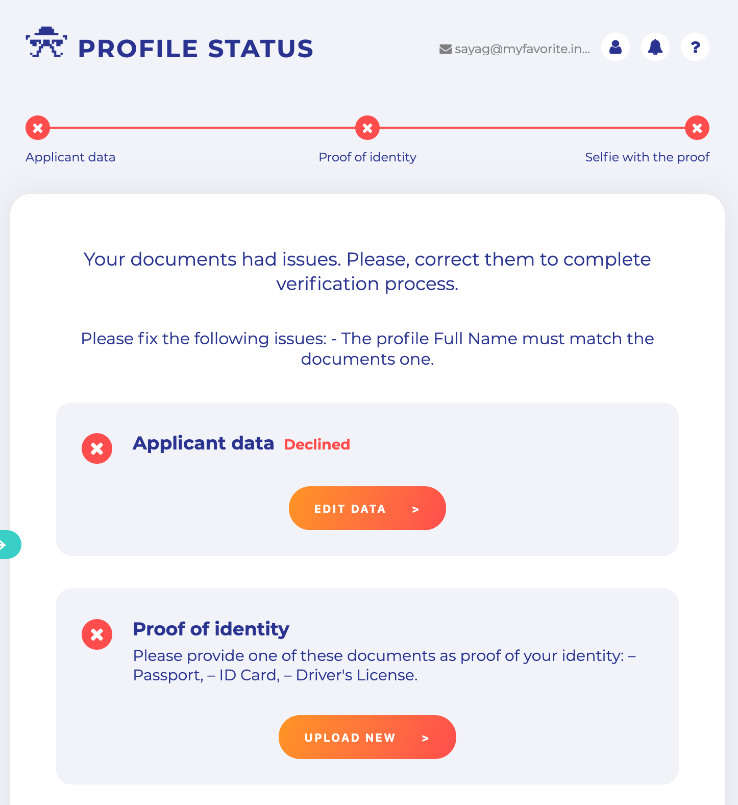 KYC – proof of address verification