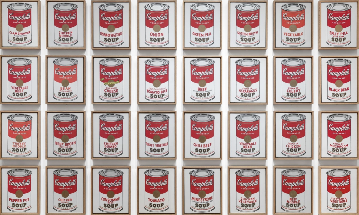 «Тридцать две банки супа Кэмпбелл» (Campbell's Soup Cans)