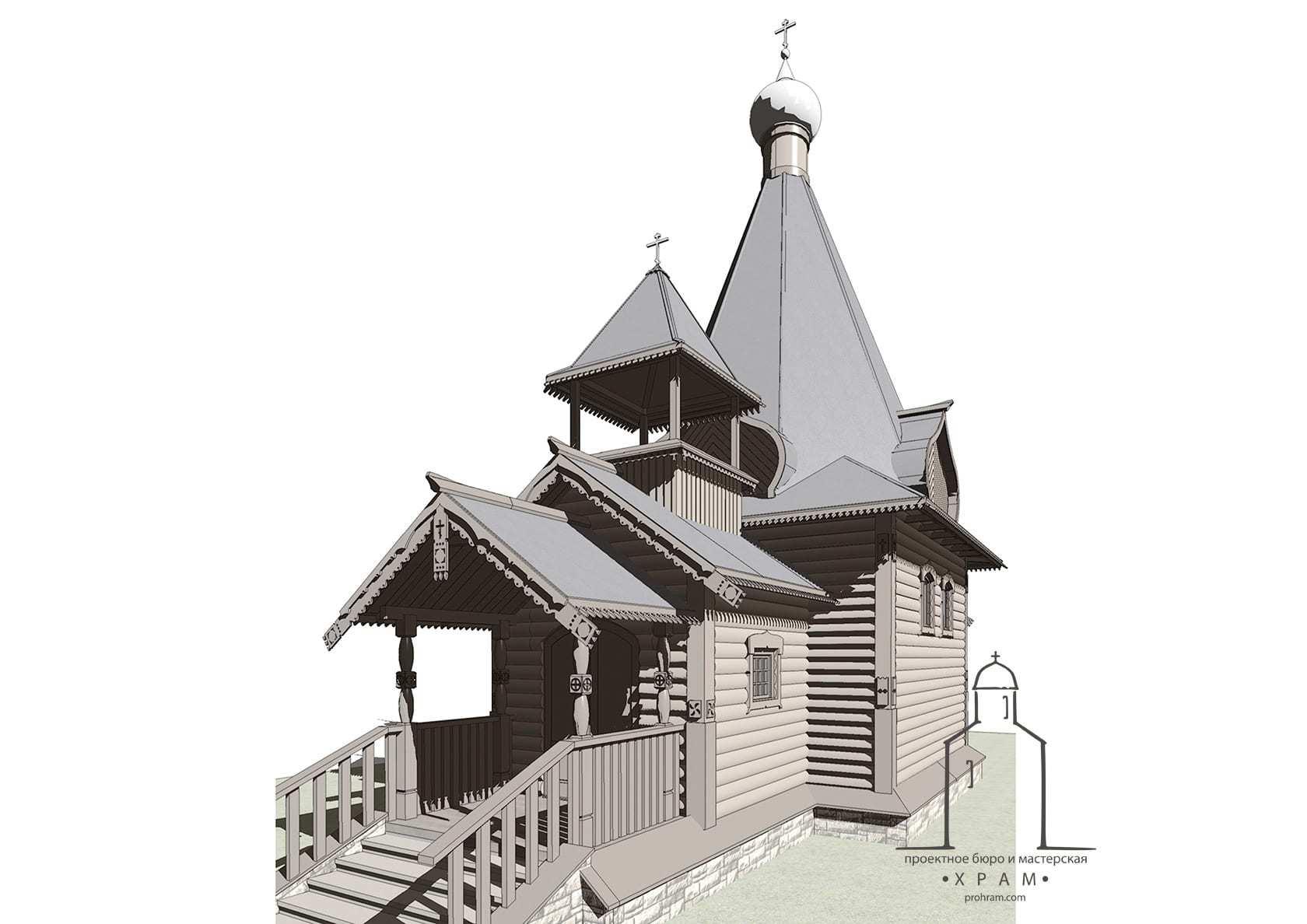 проект деревянного храма, проект деревянного храма на 80 человек, проект храма, архитектура проект храма, проект храма часовни
