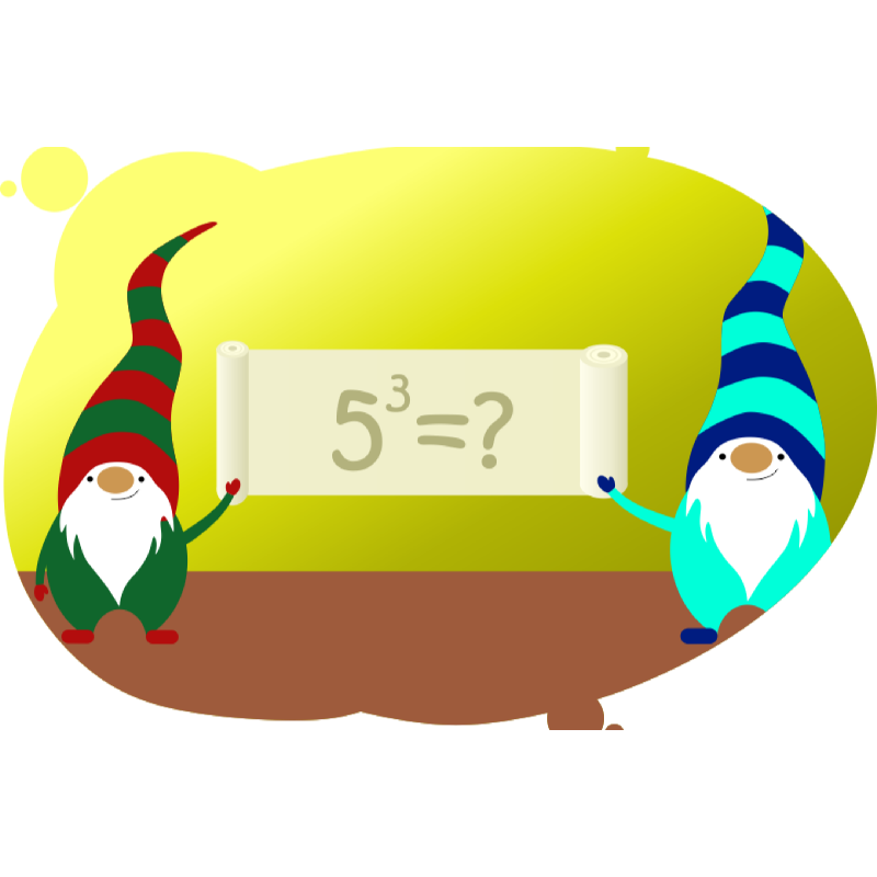 Два гнома объясняют как возводить число в степень
