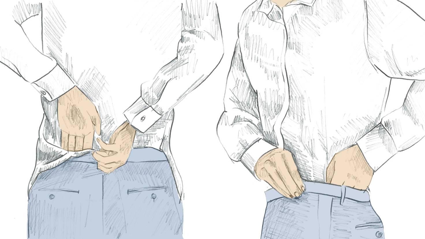 Gant, как правильно заправить рубашку