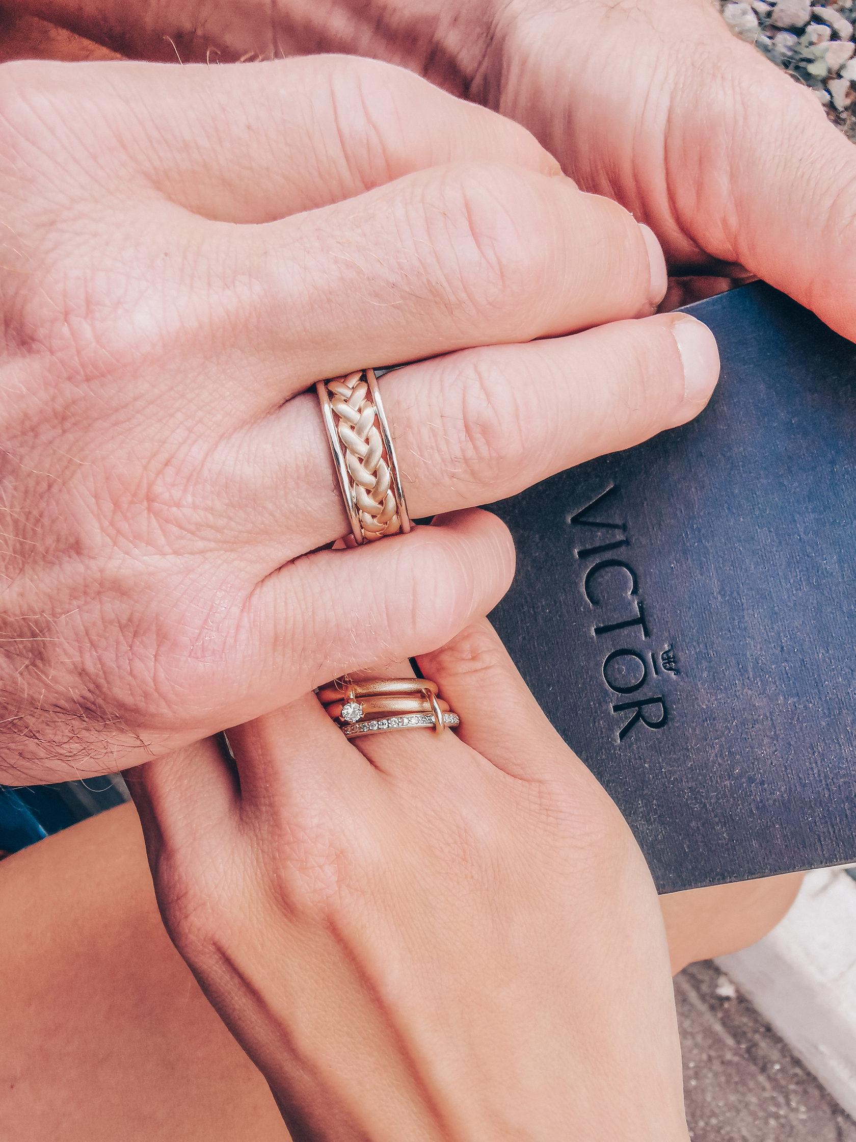 Дизайнерские обручальные кольца из комбинированного золота отзывы