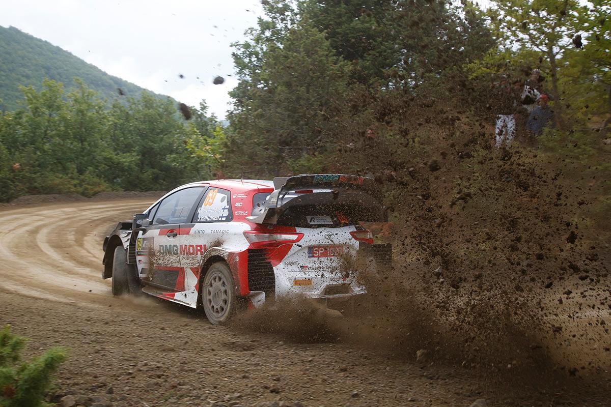 Калле Рованпера и Йонне Халттунен, Toyota Yaris WRC, ралли Акрополь 2021