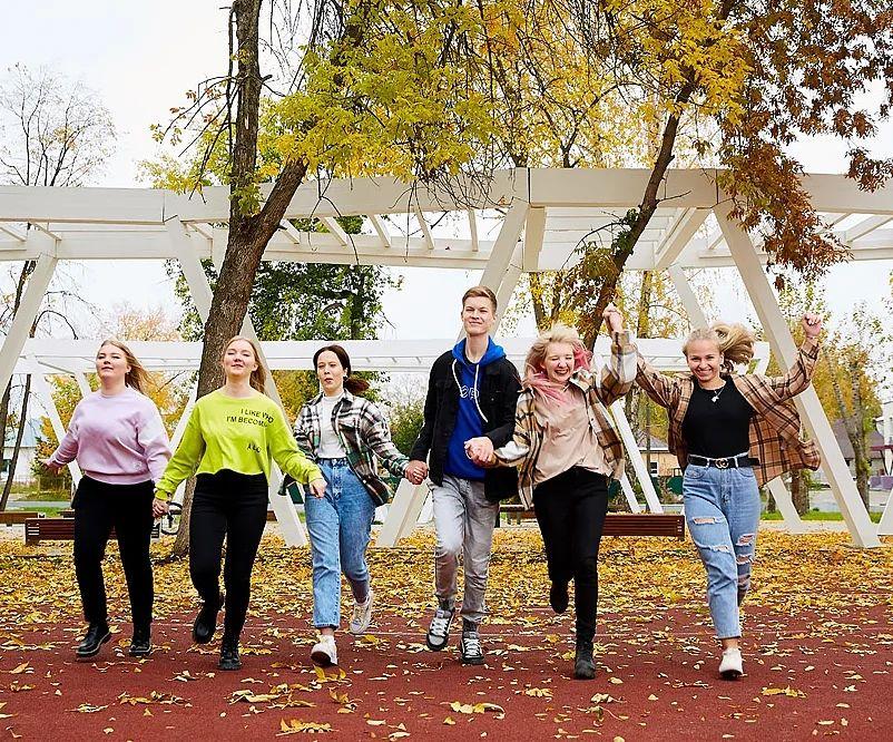 фотосессия школьников в парке