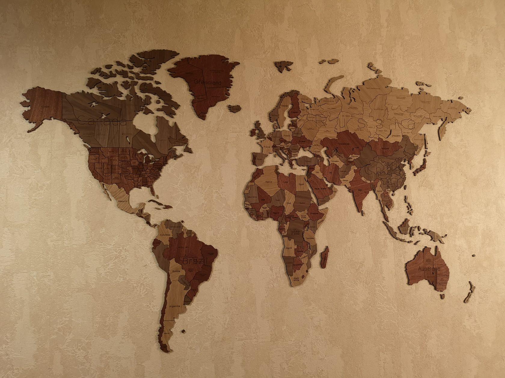 Карта мира из картинок