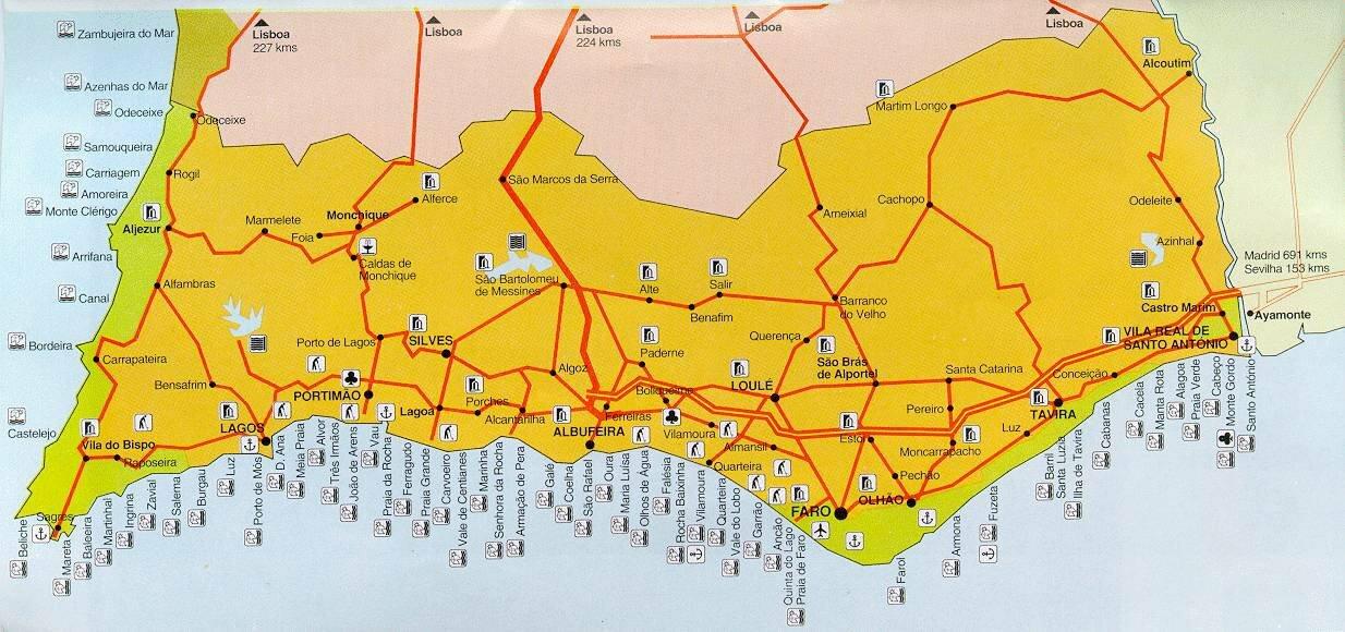 алгарве карта