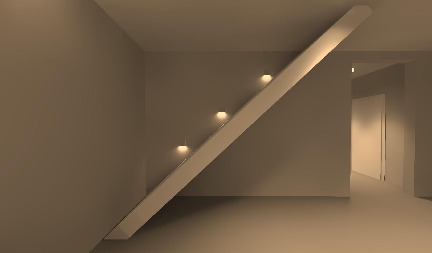 Вид 3. Освещение в гостиной