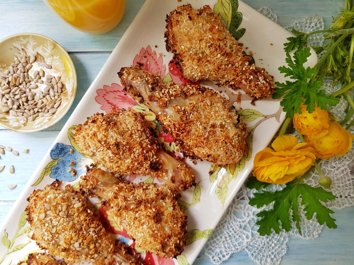 Хрустящие куриные ножки в духовке. Блог Вкусный Израиль. Подробный рецепт с фото.