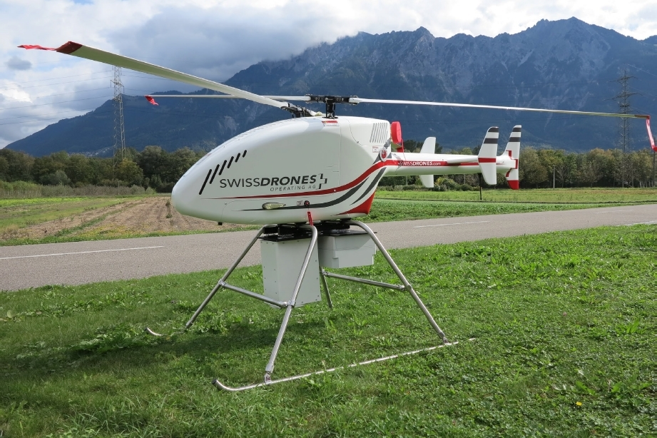 Heavy lift drone with IR laser methane detection system