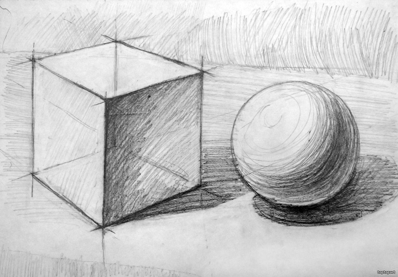 Картинки с тенями карандашом
