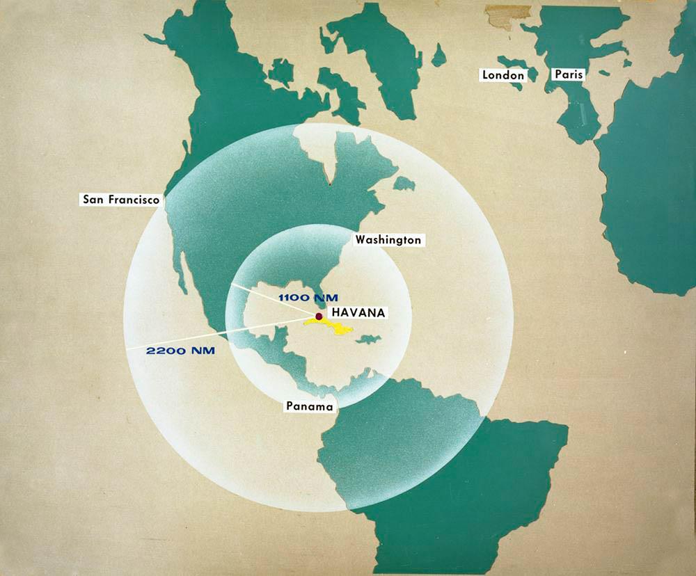 Размещенные наКубе советские ракеты покрывали всю территорию США, кроме Аляски.