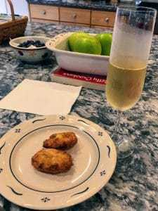 I do agree that great Champagne should go with food. This 2002 Lanson Noble Cuvee Blanc de Blancs spent 14 years aging on the lees and was bloody fantastic with Portuguese Pastéis de Bacalhau (fried salted cod).