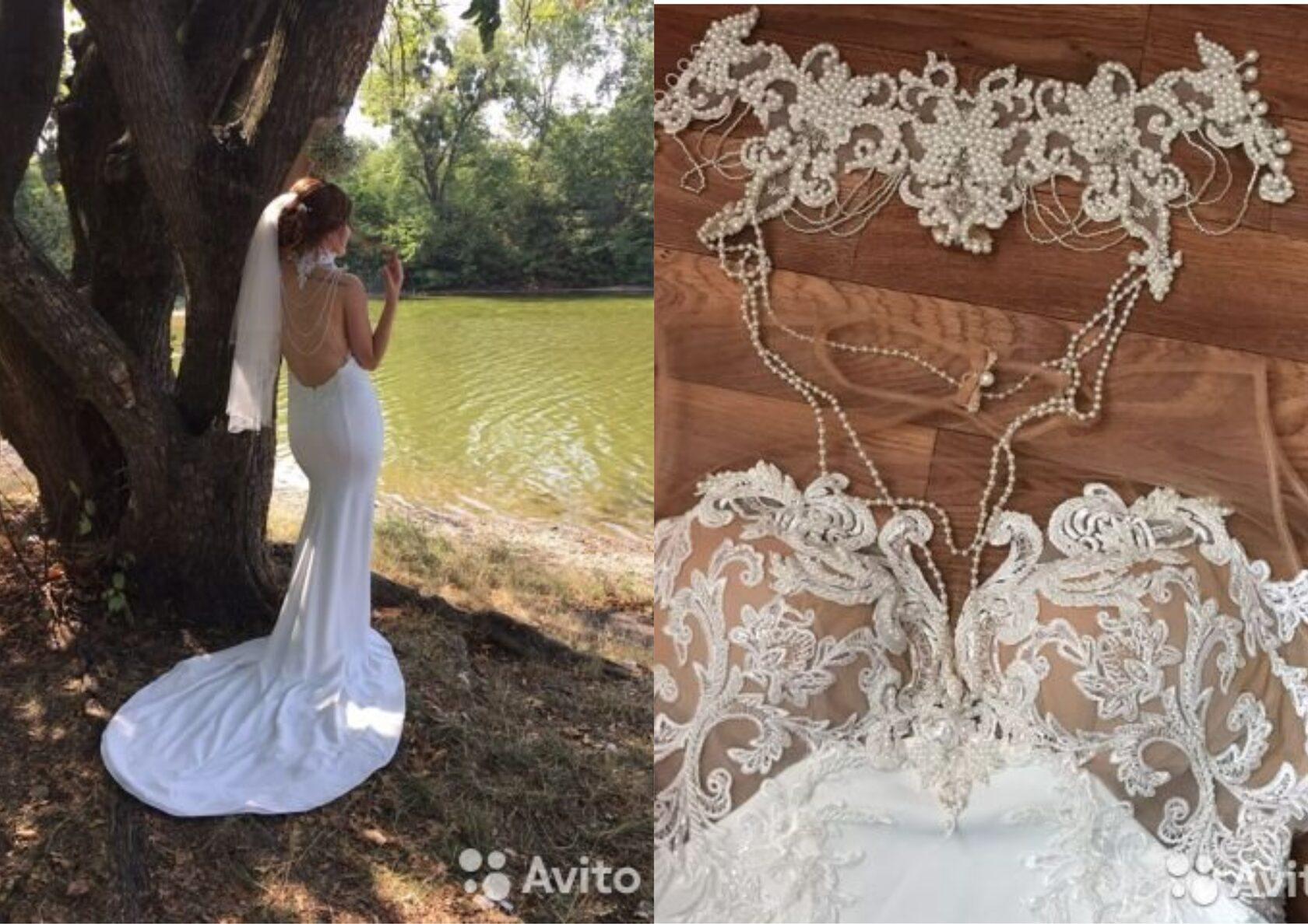 Свадебное платье для продажи на авито