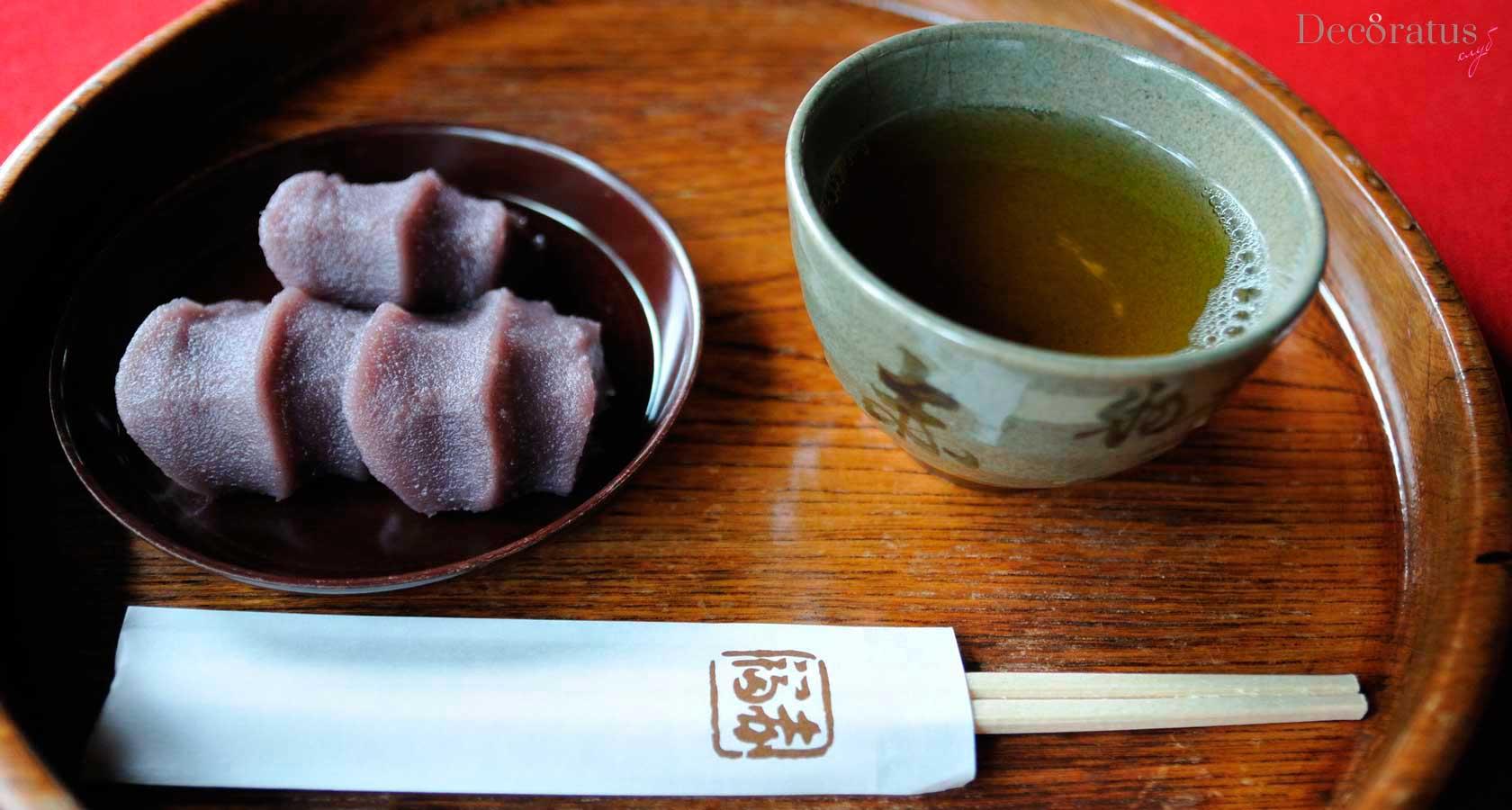 чай бантя и японские сладости