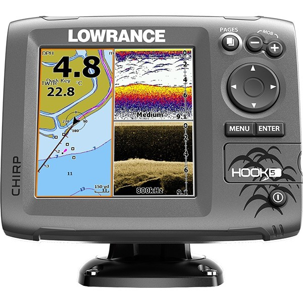 Lowrance HOOK-5 Mid High DownScan
