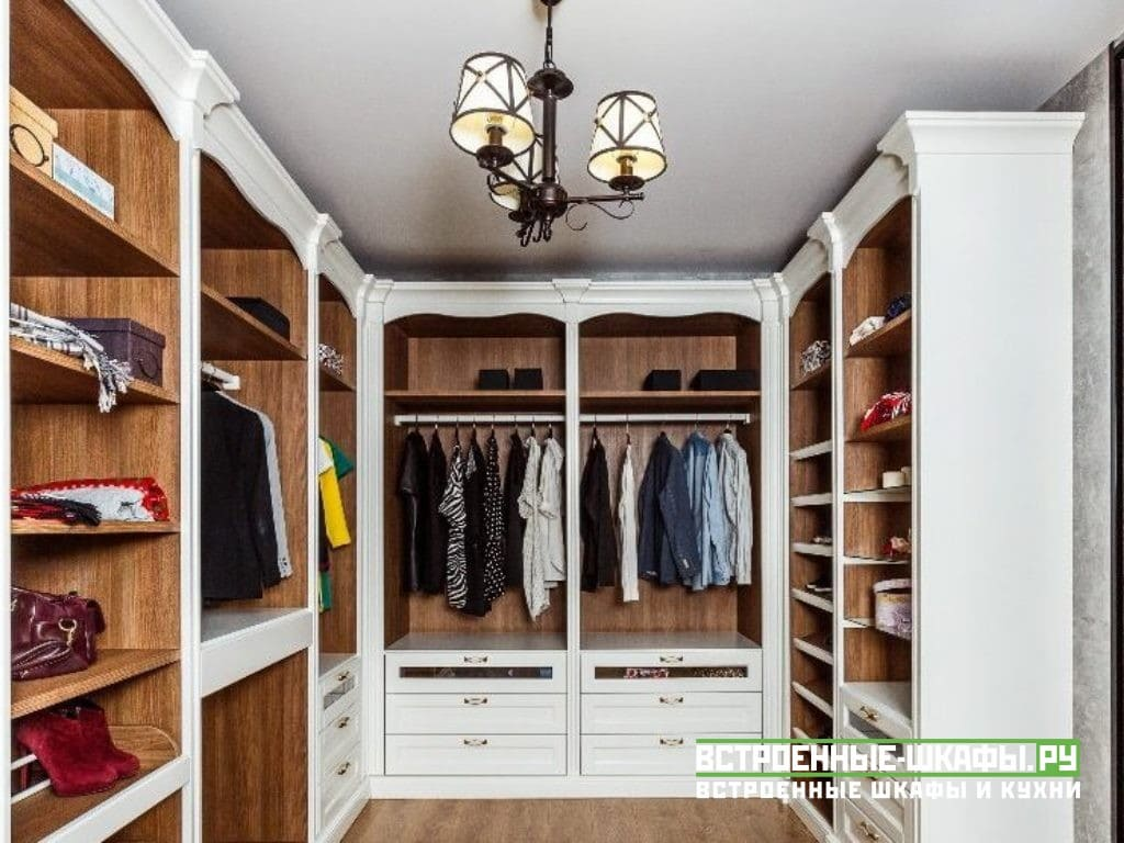 Шкафы в гардеробную комнату по индивидуальному проекту