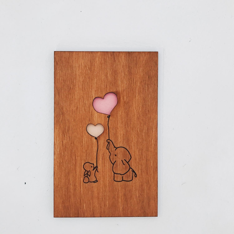 Поздравлением дня, эксклюзивные открытки из дерева