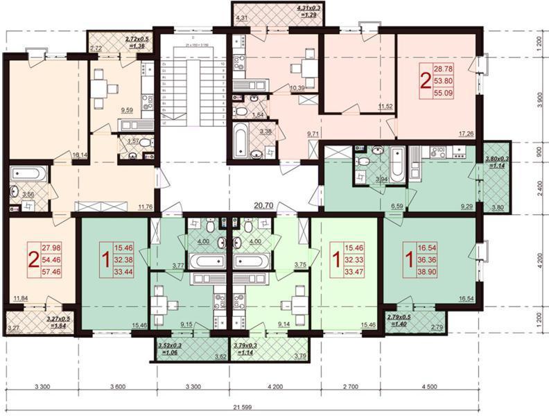 Планировки квартир ЖК Португалия от застройщика