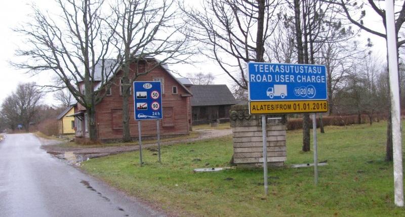 Платный режим пользования автошоссейными дорогами общего пользования введен в Эстонии с 1 января 2018 года (фото: Эстонская дорожная администрация)