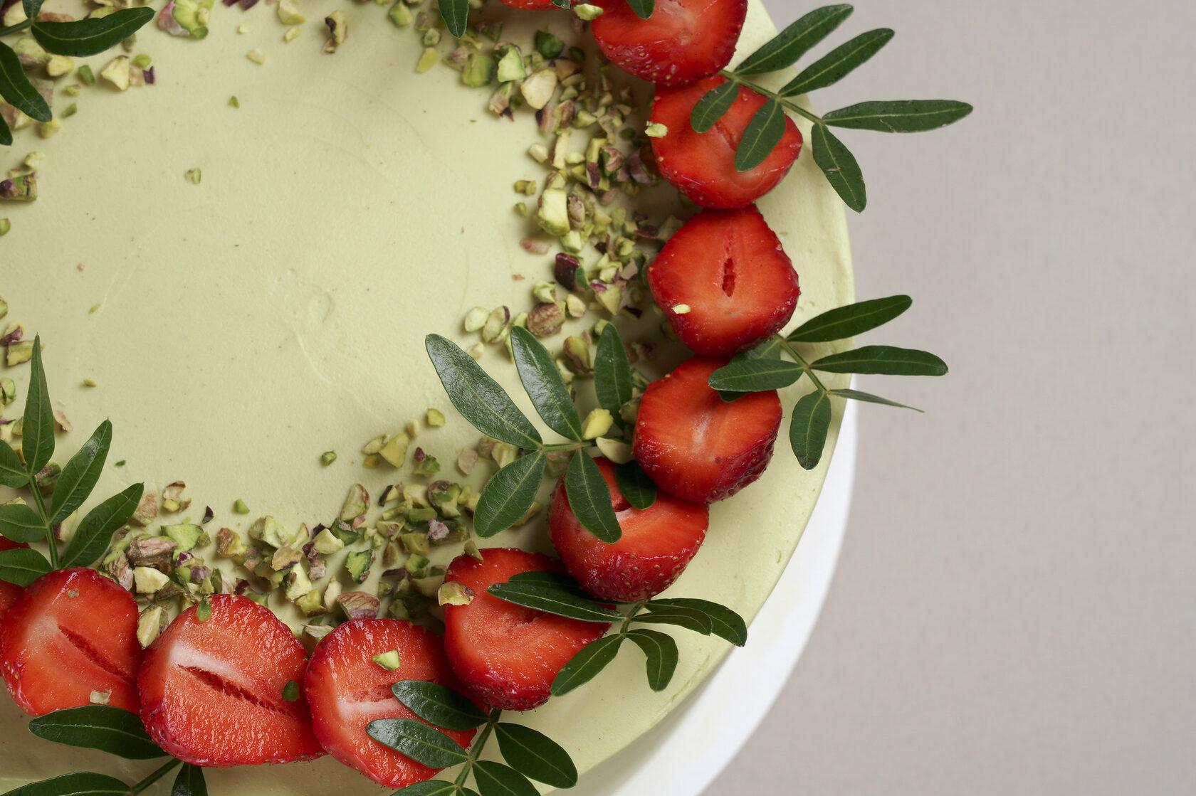 honey cake surface photo