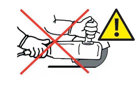 Не использовать для резки круги Тип 27, кроме случаев, когда специально указано.