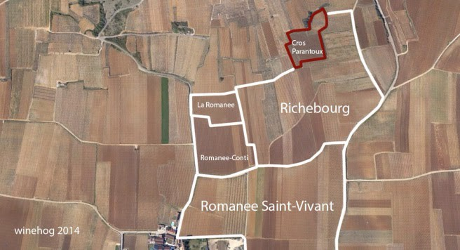 Cros Parantoux 1er Cru, Vosne-Romanee map
