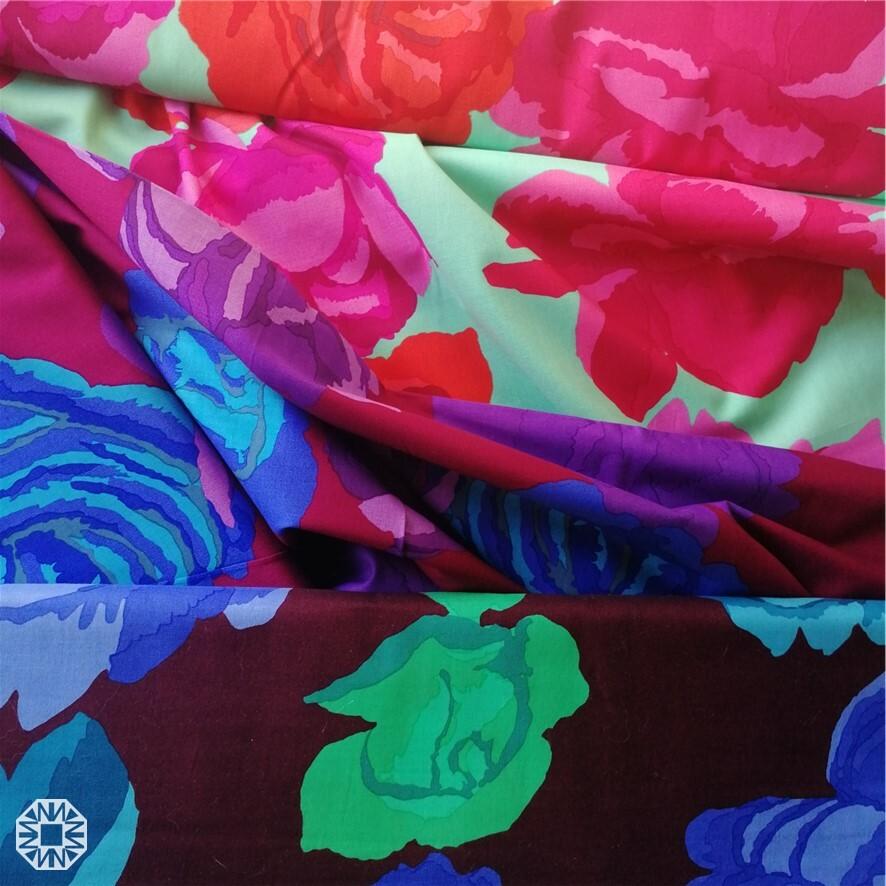 «Крупные розы» Kaffe Fassett для FreeSpirit Fabrics