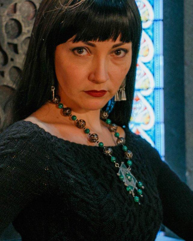 Участник интерактивного мифологического театра - роль волшебницы Морганы