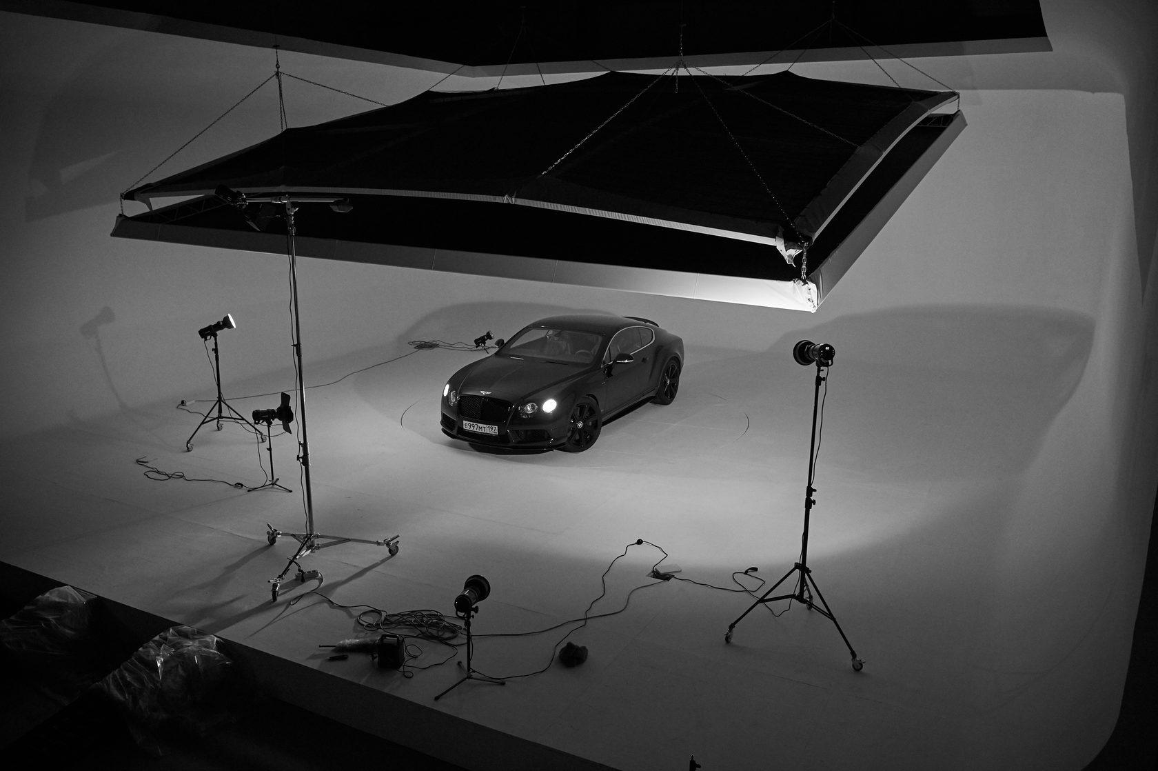 Освещение для фотосъемки автомобилей кружево
