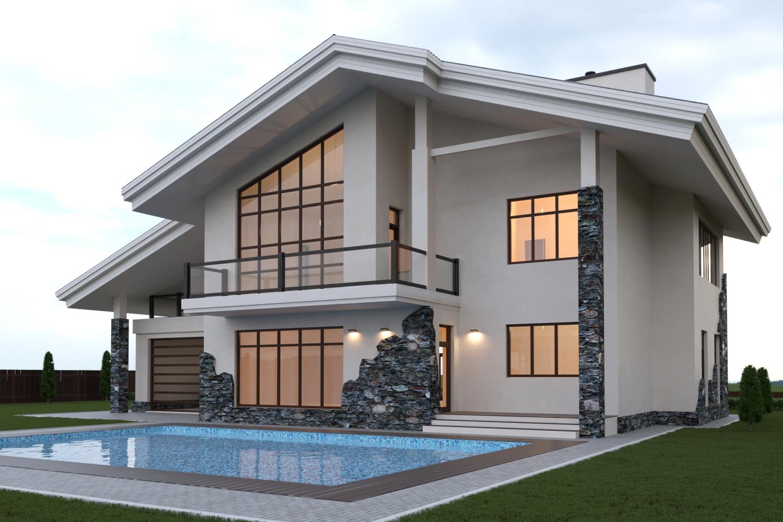 поднять красивый проект двухэтажного дома фото нарушение