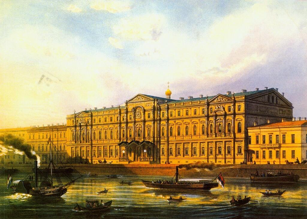 Ново-Михайловский дворец, где располагалась Академия истории материальной культуры.