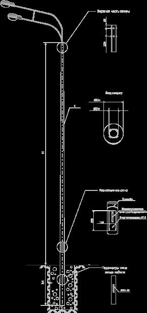 Опоры несиловые прямостоечные круглоконические тип НПК