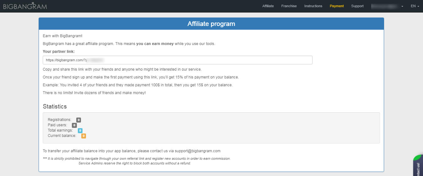 bigbangram best affiliate program