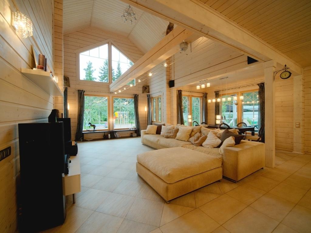 интерьер деревянного дома элитного термобелье
