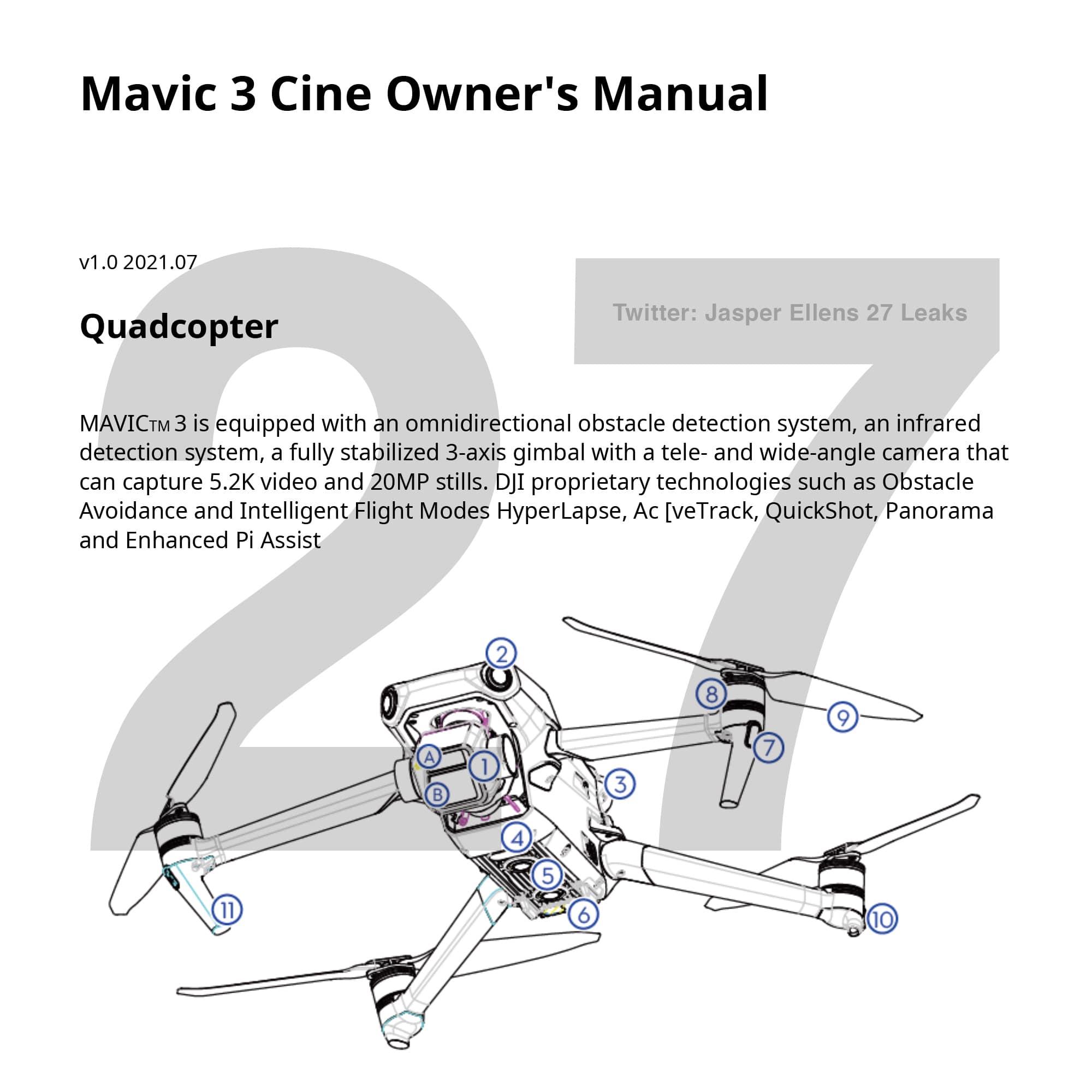 Мануал DJI Mavic 3