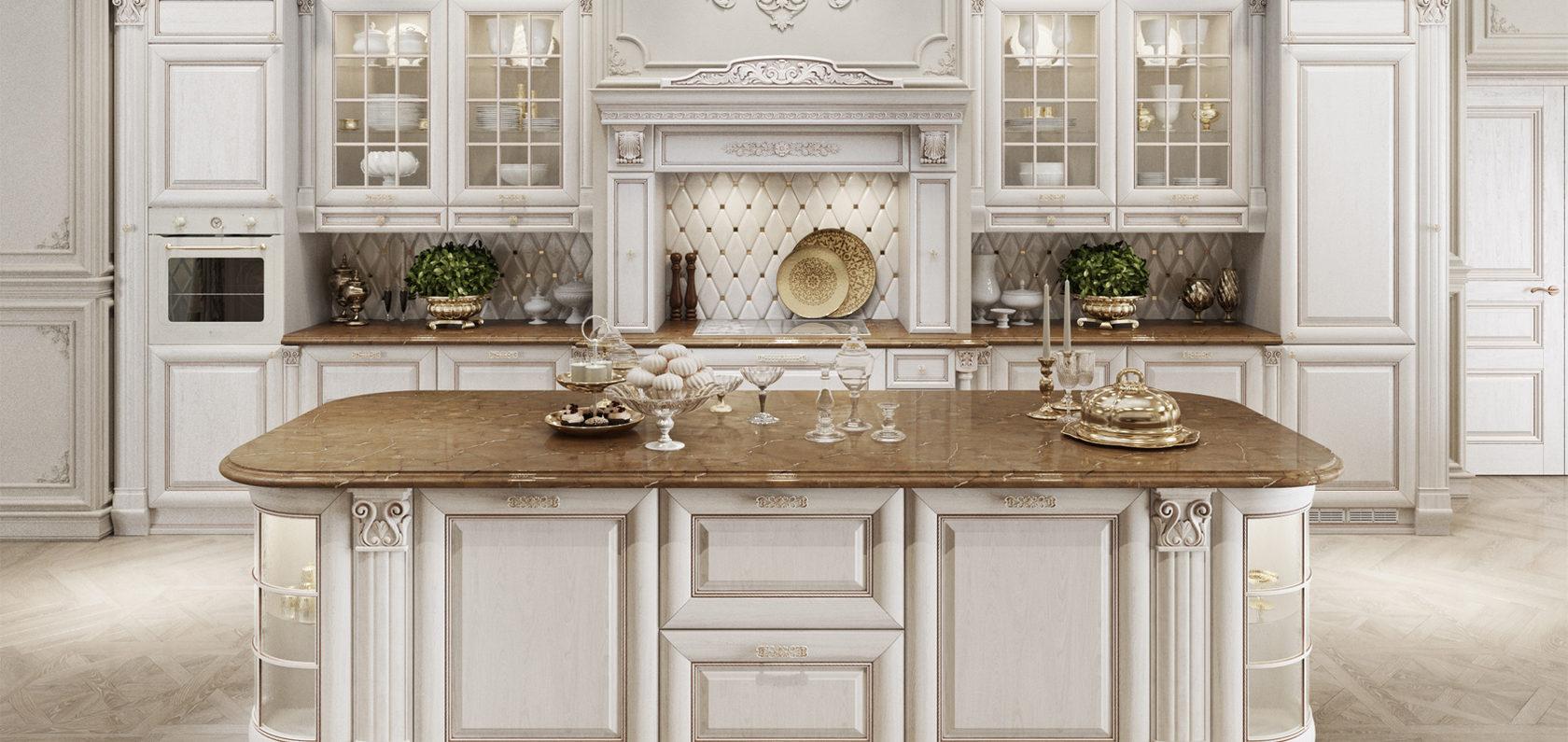 кухни с витринами в классическом стиле фото вами
