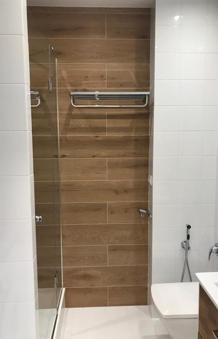 Ремонт в однокомнатной квартире в «ЖК Лиственный». Ремонт в ванной комнате.