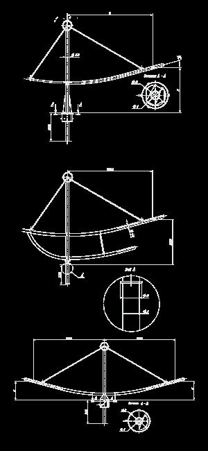 Кронштейн для консольных светильников — «Ладья»