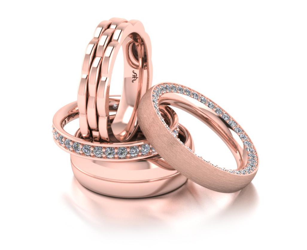 обручальные кольца из красного золота