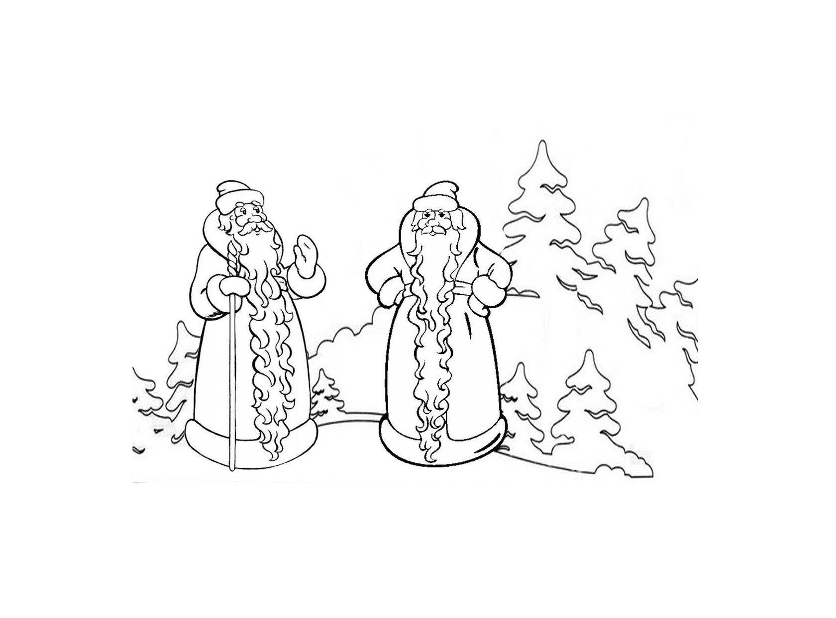 Два мороза русская народная сказка картинки