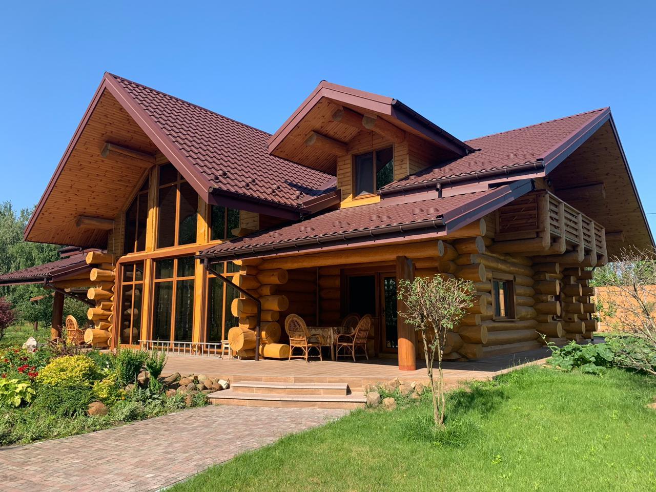 Красивые дома из бревна фото и проект
