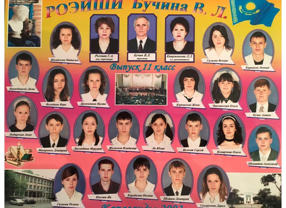 11 КЛАСС 2003 г.  Кл. рук. Каиржанова Л.Л.