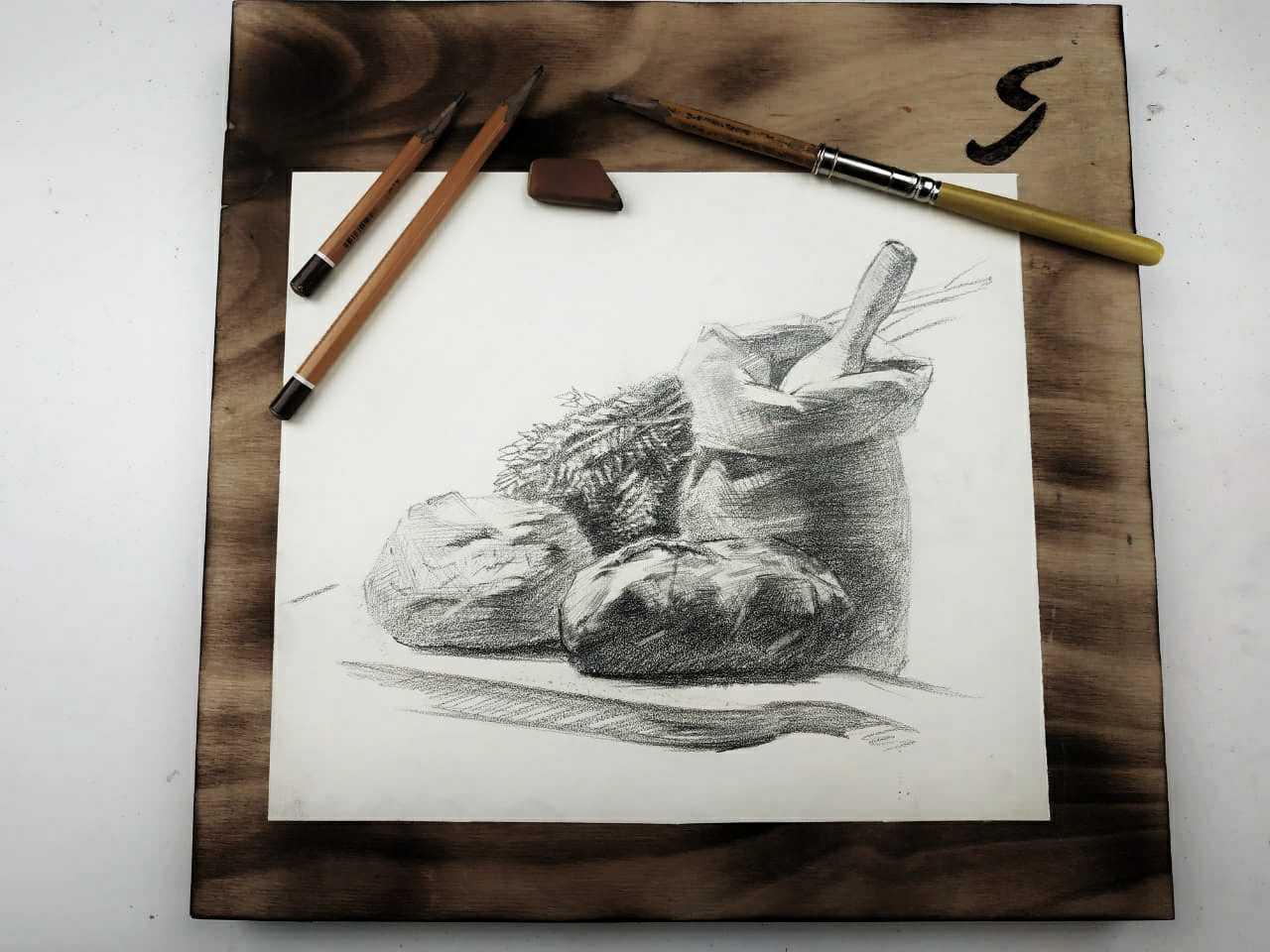 Онлайн мастер-класс по графике «Свежий хлеб»